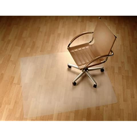 FloordirektECO PP-Sedia da ufficio, protezione per pavimenti, Polipropilene, Trasparente, 75 cm x 120 cm