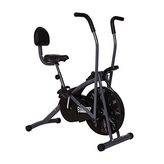Fitkit FK600 Steel Airbike with Back Support and Free Installation Assistance