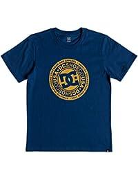 DC Shoes Circle Star Camiseta Cuello Redondo para niño, Niños, EDBZT03280, Sodalite Blue, FR : L (Taille Fabricant : L)