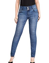 YuanDian Femme Automne Hiver Casual Grande Taille Boucle Avant Push Up  Crayon Jean Skinny Mode Slim 6768ae3c5673