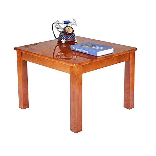 CJC Tables, Bois Massif Deluxe Bois Franc Joue Enfants Salle De Jeux Garderie Préscolaire, Carré, Naturel Finition (Couleur : Begonia color, taille : 60x40x45cm)