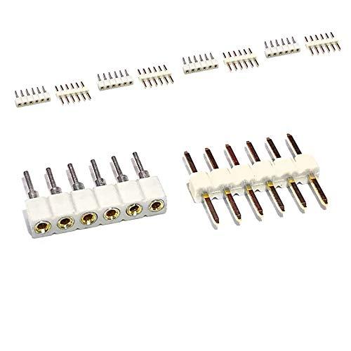 Weiße Steckdosenleiste für Philips Hue Lightstrip Plus, 6-polig, rund, 1 Stück, 5 Pins & 5 Socket Strips