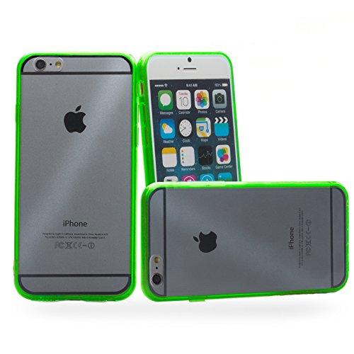 Apple iPhone 6/6S + PLUS (5.5 Zoll) | iCues Bumpy Bumper Case Klare Rückseite Schwarz | Staubschutz durch Staubstecker Stöpsel Sttaubdicht Dust Proof Extra Leicht sehr Dünn Transparent Klarsichthülle  Grün