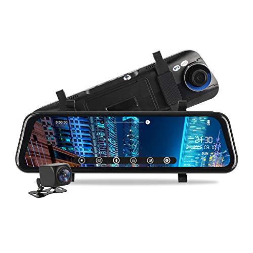 Telecamera da cruscotto con schermo touch da 9,3 720p MiCarBa telecamera di retromarcia per 24 ore di parcheggio 1080p frontale
