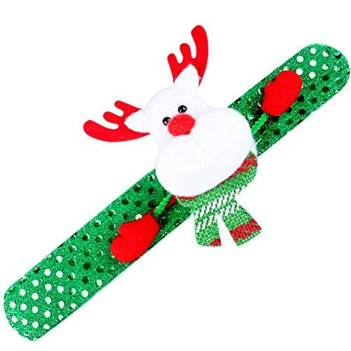 LHDDWY - Pulsera de Navidad con Juguete Deslumbrante, 2 Piezas de luz LED Que Brilla en la Oscuridad, Brazalete de círculos de Navidad Colorido para Navidad