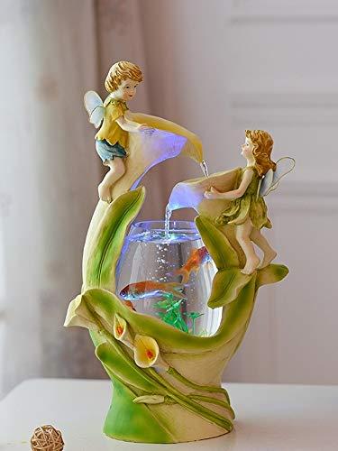 REWQ Aquarium Aquarium Kreative Wasser Ornamente niedlichen kleinen Engel Aquarium Wohnzimmer Desktop kleine Mini Goldfisch Tank