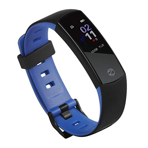 ZEB-FIT550CH, Zebronics Smart Fitness Band with Color Display, Heart Rate Monitor, Pedometer,Sleep Monitoring, Caller ID,Incoming Call Rejection & Music Control. (Blue)