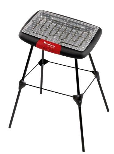 Moulinex BG133811 Barbecue Electrique sur Pieds Démontable Noir/Rouge 2000 W