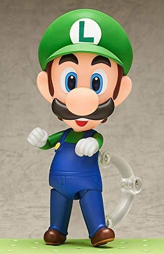 rio Bros Wii Figur Mario # 473 / Luigi # 393 Actionfigur Nendoroid Party Dekoration Spielzeug 10cm KT3282, B ()