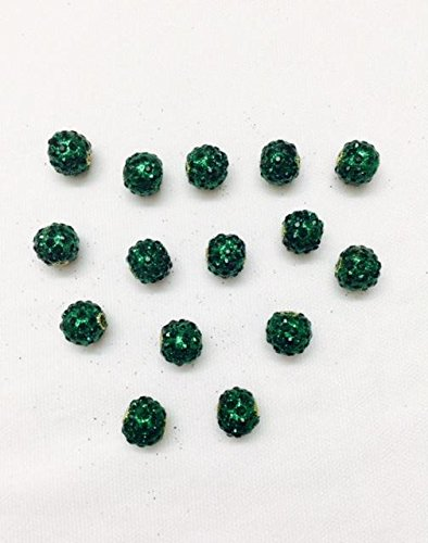 6 Pieces of Small sone Beaded Buttons Shining Green Colour for Kurtis Ethnic Dresses Indo Western Tops Growns Blouses
