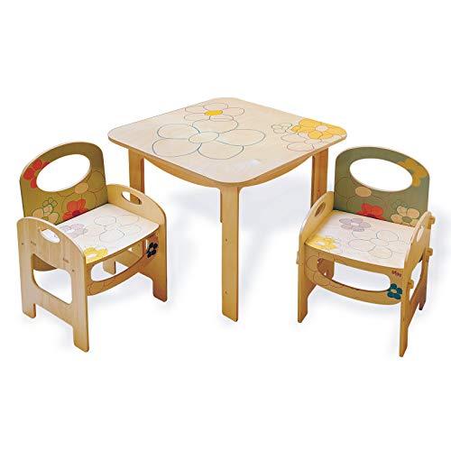 Dida - tavolo quadrato a fiori per bambini