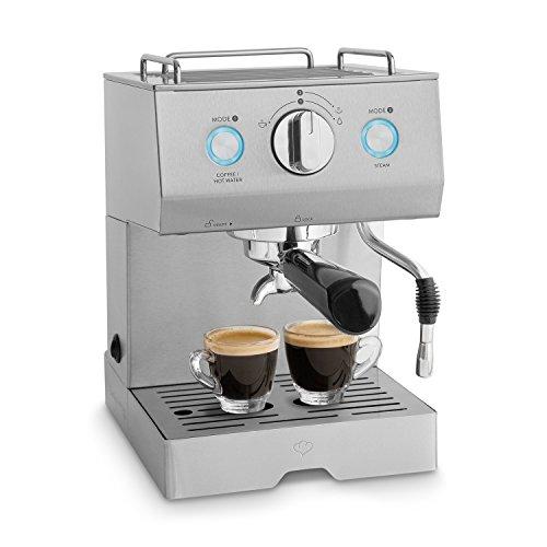Edelstahl Espressomaschine Emilia inkl. Espressoanleitung von Springlane Kitchen...