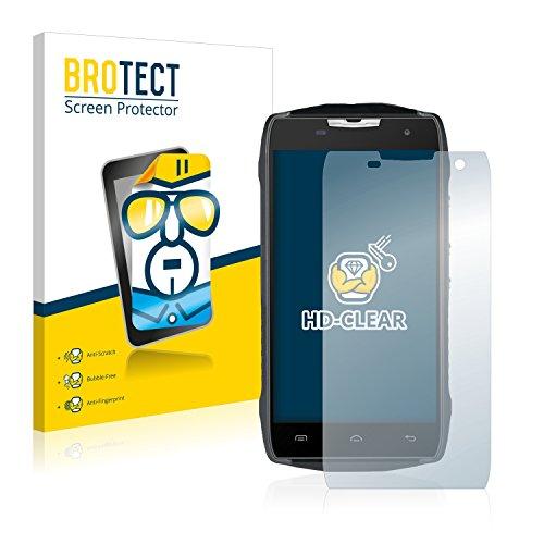BROTECT Schutzfolie kompatibel mit Doogee T5 Lite [2er Pack] klare Bildschirmschutz-Folie