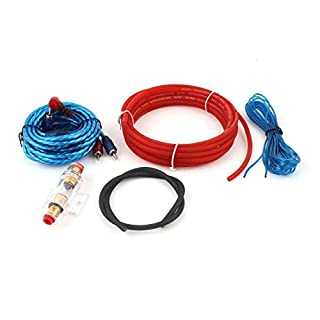 sourcing map 5 in 1 Audio RCA Batterie8 Gauge Stromkabel Verstärker Verkabelung für Auto DE
