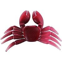 Broadroot 5pcs señuelos de pesca de simulación de cangrejos cebos artificiales de goma suave (rojo)