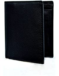 [Sponsored Products]Everyday Desire Book Fold Genuine Leather Men's Wallet With Card Flap - Black