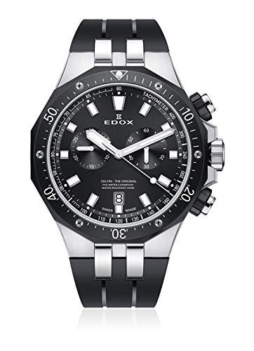 Edox 10109 357NCA NIN - Orologio da polso da uomo, al quarzo, analogico, con cronografo e data