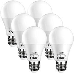 LE 6 pezzi, Lampadine a LED E27, pari a lampade ad incandescenza da 60W, A60 9W 800lm. 2700K bianco caldo [Classe di efficienza energetica A+]