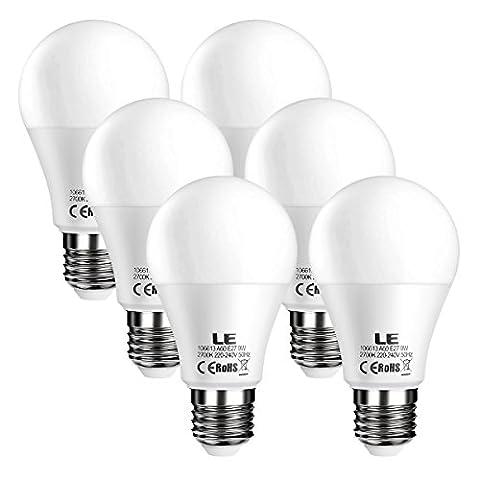 LE E27 LED Bulbs 60W Equivalent 9W, 800lm A60 ES