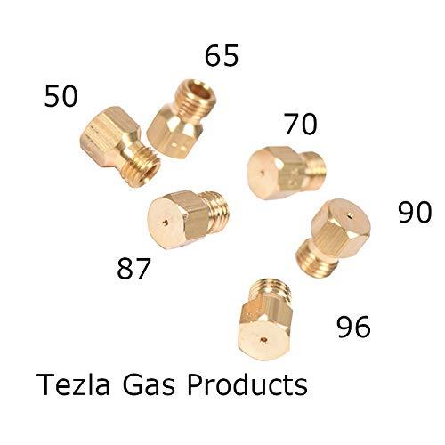 Juego de 6 chorros universales de gas para quemadores de gas propano LPG, rosca M6 x 0,75
