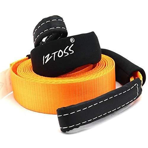 Auto-Abschleppseil 5 Tonnen mit kleiner Jacke orange Notfallseil Doppelkopfverstärkung starkes Zugseil 5 Meter
