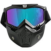 Rétro masques de ski lunettes de soleil de sport en plein air lunettes anti-UV moto Ride sable prévenir lunettes coupe-vent pour l'homme et les femmes 6Bc8gy4Zo