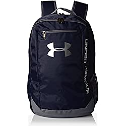 Under Armour UA Hustle Backpack Ldwr Mochila, Hombre, Azul (Midnight Navy/Graphite/Silver 410), Talla única