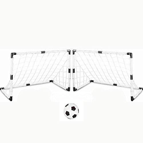 ltore mit Fußball und Pumpe DIY Kinder Sport Fußball Ziele Zug Garten Spiel 2 Fußball Tor W Ball Für Kinder ()