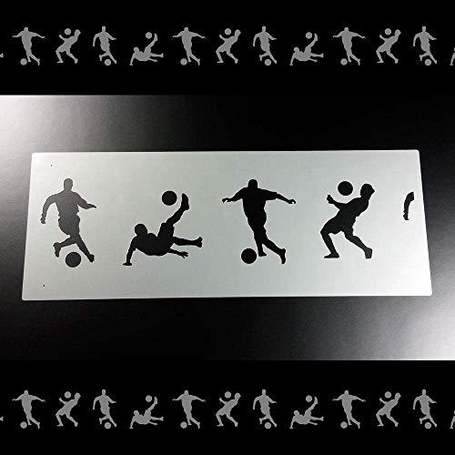 Schablone Bordüre Fußball Fußballer Soccer B2B34