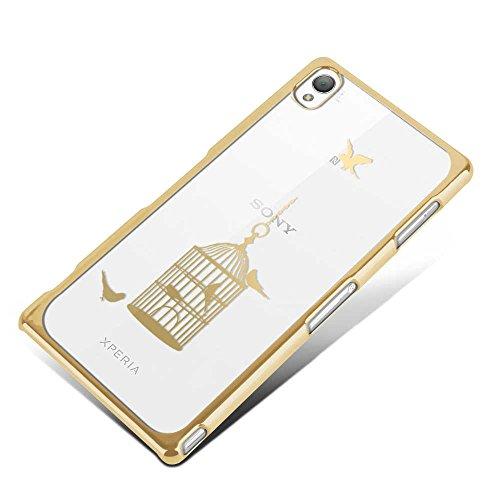 Apple iPhone 5 / 5s Handyhülle / Schutzhülle inkl. Displayschutzfolie im Design : die kleine Fee Gold Vogelkäfig Gold+Touchstift