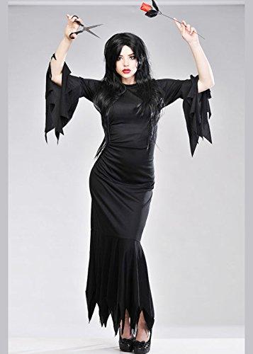 Damen Halloween Frau Morticia Kostüm