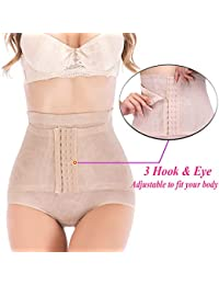 e13795bc9b204 SAYFUT Women s Seamless High Waist Cincher Tummy Tucker Shaper Panty Hip  Enhancer Butt Lifter Slimmer Push Up Shapewear Black…