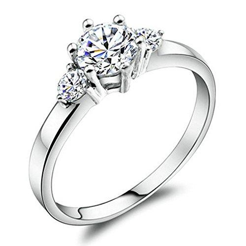 Yoursfs - anello di fidanzamento, 0.5ct, zirconia cubica, finiture in oro 18ct, metallo, 20, cod. r074w1-19