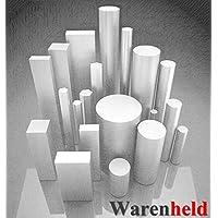 Material redondo de acero inoxidable, V2A, 1.4301, diámetro de 25 mm, longitud de 300 mm, barra redonda redonda