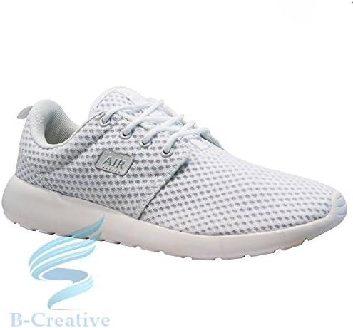 purchase cheap 252a0 72ebb B-Creative Mens Running Trainers Casual Casual Casual Lace Gym Walking  Scarpe Sportive da Donna Ragazzi Dimensioni, bianca Roshe, 11 UK   2019  Nuovo ...