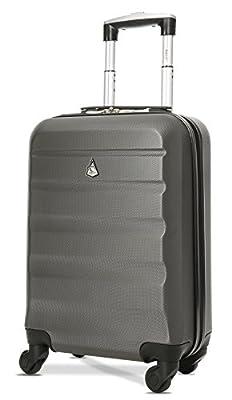 Aerolite ABS Bagage Cabine à Main Valise Rigide Léger 4 Roulettes