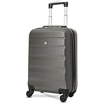 c1585d345626 Aerolite Super Lightweight ABS Hard Shell Travel Carry On Cabin Hand  Luggage Suitcase with 4 Wheels, Approved for Ryanair, easyJet, British  Airways, ...