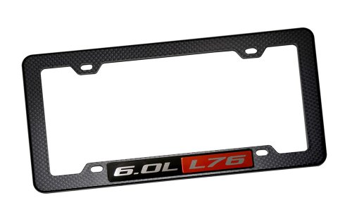 black-carbon-fiber-look-placa-license-plate-tag-frame-with-60l-l76-red-black-engine-emblem-badge-nam