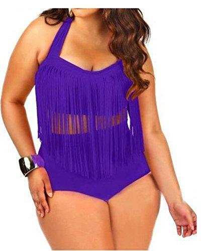 sunifsnow-bikini-maillot-deux-pieces-sans-manche-fille-violet-purrple-grand