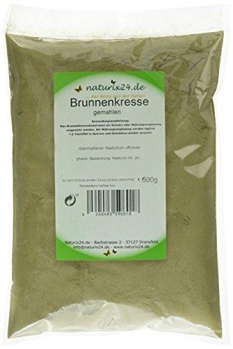 Naturix24 Brunnenkresse gemahlen, 2er Pack (2 x 500 g)