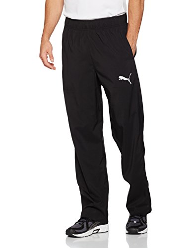 PUMA Herren Essential Woven Pant Hose, Puma Black, L (Essentials Woven Pants)