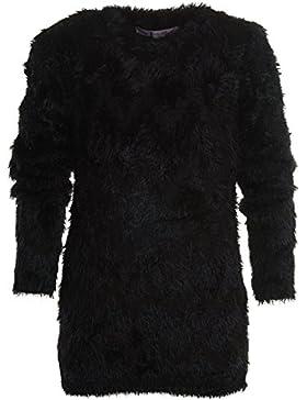 Mädchen Shirt Pullover Langarm Flauschig Strick Sweat Shirt Strick Hoodie 20635