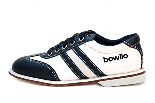 Bowlio Torino - Chaussures de bowling en cuir noir et blanc - Adulte et enfant Schwarz/Weiss