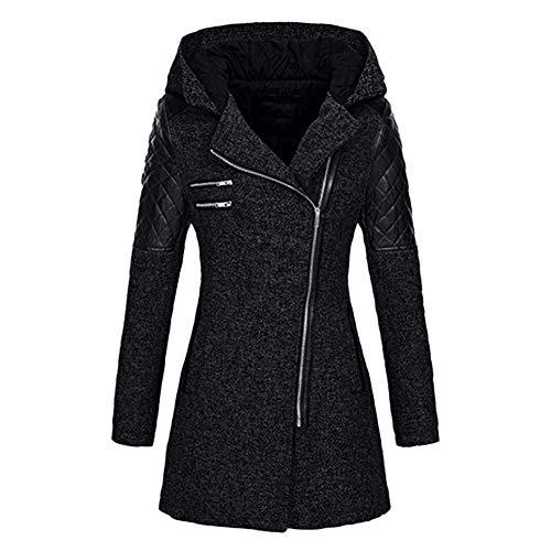 BaZhaHei Giacca DonnaModa Casuale Giacca con Cappuccio OvercoatCappotto Donna Invernale Elegante Tumblr Cappotto Eleganti Parka Giacche Giubbotto