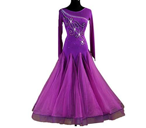 leid für Frauen National Standard Ballsaal Tanz Outfit Mesh hte Tango Walzer Für Frauen Professionel Performance Wettbewerb,B,XXL ()