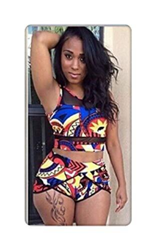 f1f3ef31533 Women High Waist Swimsuits 3XL Plus Size Swim Wear Bathing Suit African  Print Biquini Large Two
