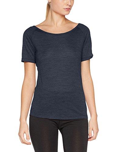 super. Natural W Essential Scoop Neck Thé Femme en laine mérinos col rond T-shirt M Navy Blazer Melange