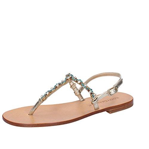 Eddy daniele 37 eu sandali donna gioiello platino pelle / cristalli swarovski ax781