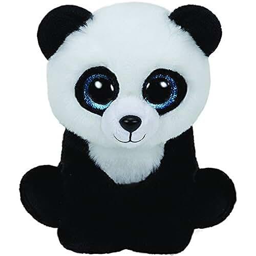 peluches TY - Classics Ming, panda de peluche, 15 cm, color negro (42110TY)