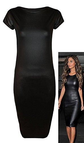 Fast Fashion - Robes De Wetlook Plaine Célébrités Inspiré Dans Des Styles Différents - Femmes capuchon manches midi